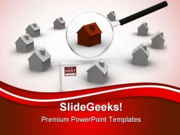 Search For Rent House Real Estate PowerPoint Templates And PowerPoint Backgrounds 0411