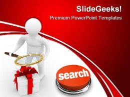 Search Of Gifts Internet PowerPoint Templates And PowerPoint Backgrounds 0611