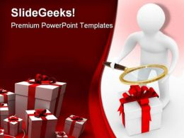 Search Of Gifts Technology PowerPoint Templates And PowerPoint Backgrounds 0211