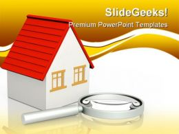 Search Of Home Real Estate PowerPoint Templates And PowerPoint Backgrounds 0811