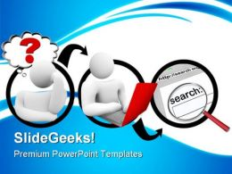 Searching For Answer Internet PowerPoint Templates And PowerPoint Backgrounds 0811