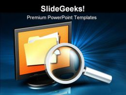 Searching For Data Internet PowerPoint Template 1110
