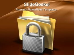 Secure Files Business PowerPoint Template 1110