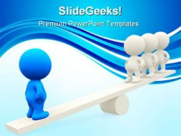 Seesaw Business Leadership PowerPoint Templates And PowerPoint Backgrounds 0411