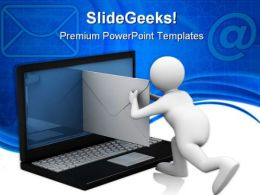 Sending Email Internet PowerPoint Template 1110