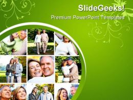 Senior Couples Lifestyle PowerPoint Templates And PowerPoint Backgrounds 0411