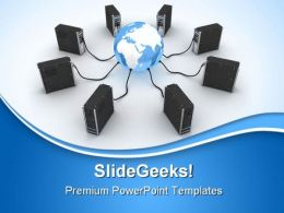 Server And Earth Internet PowerPoint Templates And PowerPoint Backgrounds 0611