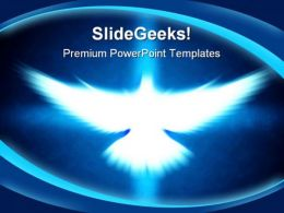 Shinning Dove Religion PowerPoint Template 0610