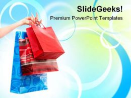 Shopping Bags Sales PowerPoint Templates And PowerPoint Backgrounds 0311