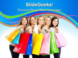 Shopping Women Sales PowerPoint Templates And PowerPoint Backgrounds 0311  Presentation Themes and Graphics Slide01