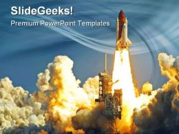 Shuttle Launch Technology PowerPoint Templates And PowerPoint Backgrounds 0311
