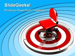 Sitting Target Business PowerPoint Templates And PowerPoint Backgrounds 0811