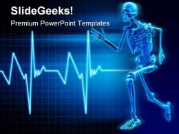 Skeleton Running Science PowerPoint Templates And PowerPoint Backgrounds 0211