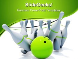 Skittles For Bowling Game PowerPoint Templates And PowerPoint Backgrounds 0711