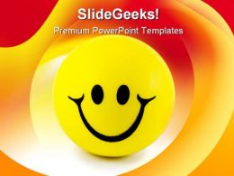 Smiley Face Shapes PowerPoint Backgrounds And Templates 0111