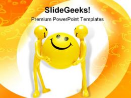 Smiley Figures People PowerPoint Template 1110