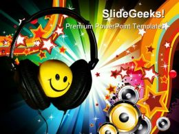 Smiley Music Abstract PowerPoint Templates And PowerPoint Backgrounds 0211