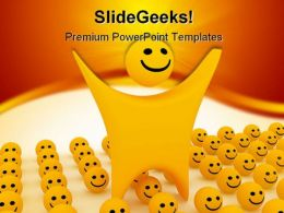 Smiley Shapes PowerPoint Templates And PowerPoint Backgrounds 0211