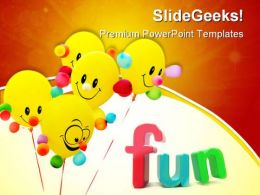 Smiling Colorful Balloon Entertainment PowerPoint Templates And PowerPoint Backgrounds 0411