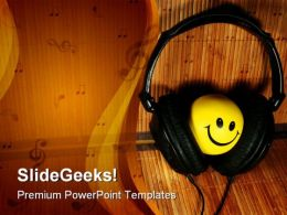 Smiling Face Music PowerPoint Templates And PowerPoint Backgrounds 0211