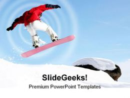 Snowboarder Jumping Sports PowerPoint Templates And PowerPoint Backgrounds 0711