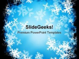 Snowflakes Christmas PowerPoint Templates And PowerPoint Backgrounds 0711