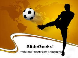 Soccer Player With World Map Game PowerPoint Templates And PowerPoint Backgrounds 0211
