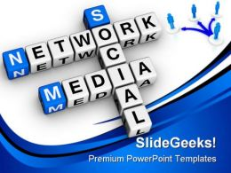 Social Media Network People PowerPoint Template 1110  Presentation Themes and Graphics Slide01