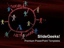 Social Networking Communication PowerPoint Templates And PowerPoint Backgrounds 0811