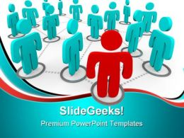 Social Networking Leadership PowerPoint Templates And PowerPoint Backgrounds 0811