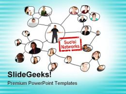 Social Networks Business PowerPoint Templates And PowerPoint Backgrounds 0811