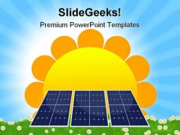 Solar Panel Geographical PowerPoint Templates And PowerPoint Backgrounds 0611
