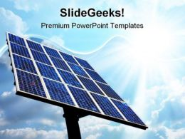 Solar Power Panel Technology PowerPoint Templates And PowerPoint Backgrounds 0811