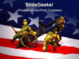 Soldiers Americana PowerPoint Template 1010