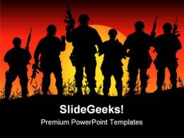 Soldiers Army Youth PowerPoint Templates And PowerPoint Backgrounds 0711