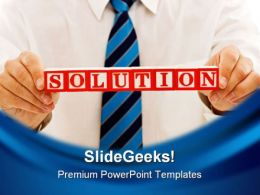 Solution Business PowerPoint Template 0810