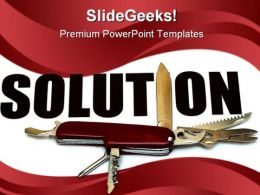 Solution Business PowerPoint Template 0910