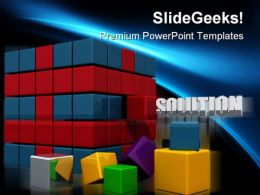 Solution Business PowerPoint Templates And PowerPoint Backgrounds 0211