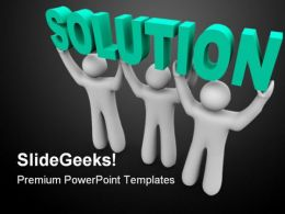 Solution Business PowerPoint Templates And PowerPoint Backgrounds 0411