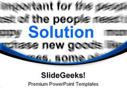 Solution Business PowerPoint Templates And PowerPoint Backgrounds 0711