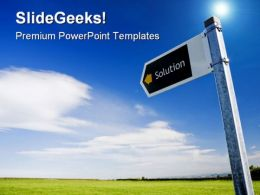 Solution Direction Sign Symbol PowerPoint Templates And PowerPoint Backgrounds 0911