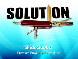 Solution Industrial PowerPoint Templates And PowerPoint Backgrounds 0911