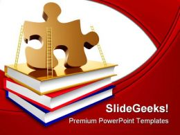 Solution Ladder Education PowerPoint Backgrounds And Templates 1210