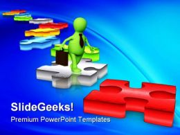 Solution Path Business PowerPoint Templates And PowerPoint Backgrounds 0311