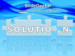 Solution Puzzle02 Business PowerPoint Templates And PowerPoint Backgrounds 0711