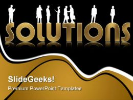 Solutions Business People PowerPoint Templates And PowerPoint Backgrounds 0811