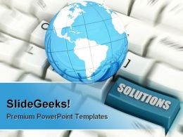 Solutions Global Computer PowerPoint Background And Template 1210