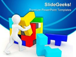 Solve Puzzles Business PowerPoint Templates And PowerPoint Backgrounds 0411  Presentation Themes and Graphics Slide01