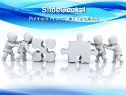 Solving Jigsaw Puzzle Business PowerPoint Templates And PowerPoint Backgrounds 0711