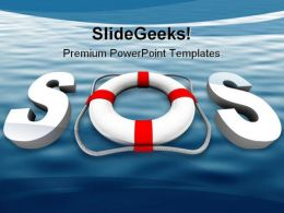 Sos Security Metaphor PowerPoint Background And Template 1210